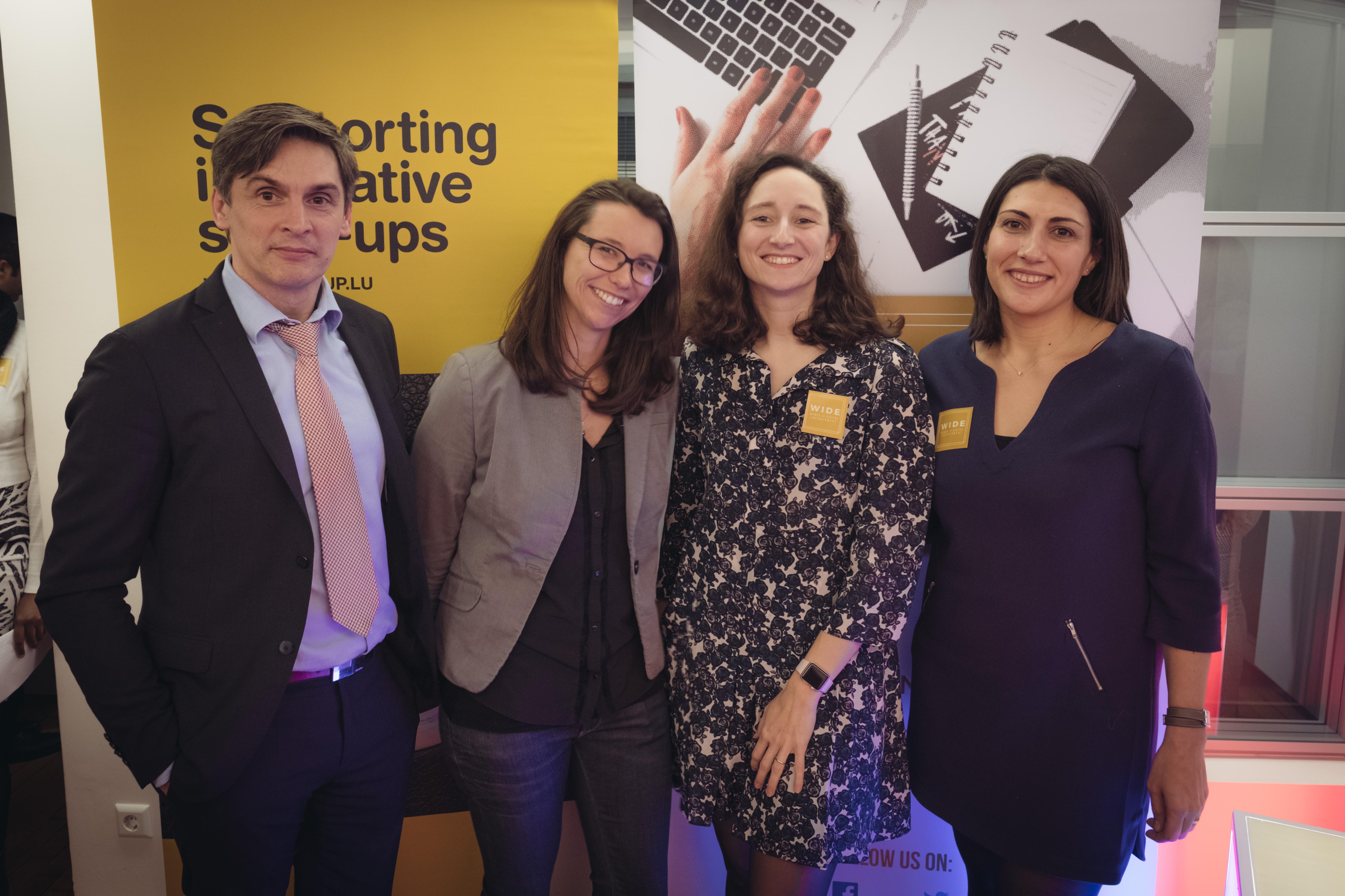 """Promotion de l'Innovation et de l'Entreprenariat / WIDE organise un afterwork et offre un(e) podium / (vitrine) à la startup """"LargoWind"""""""