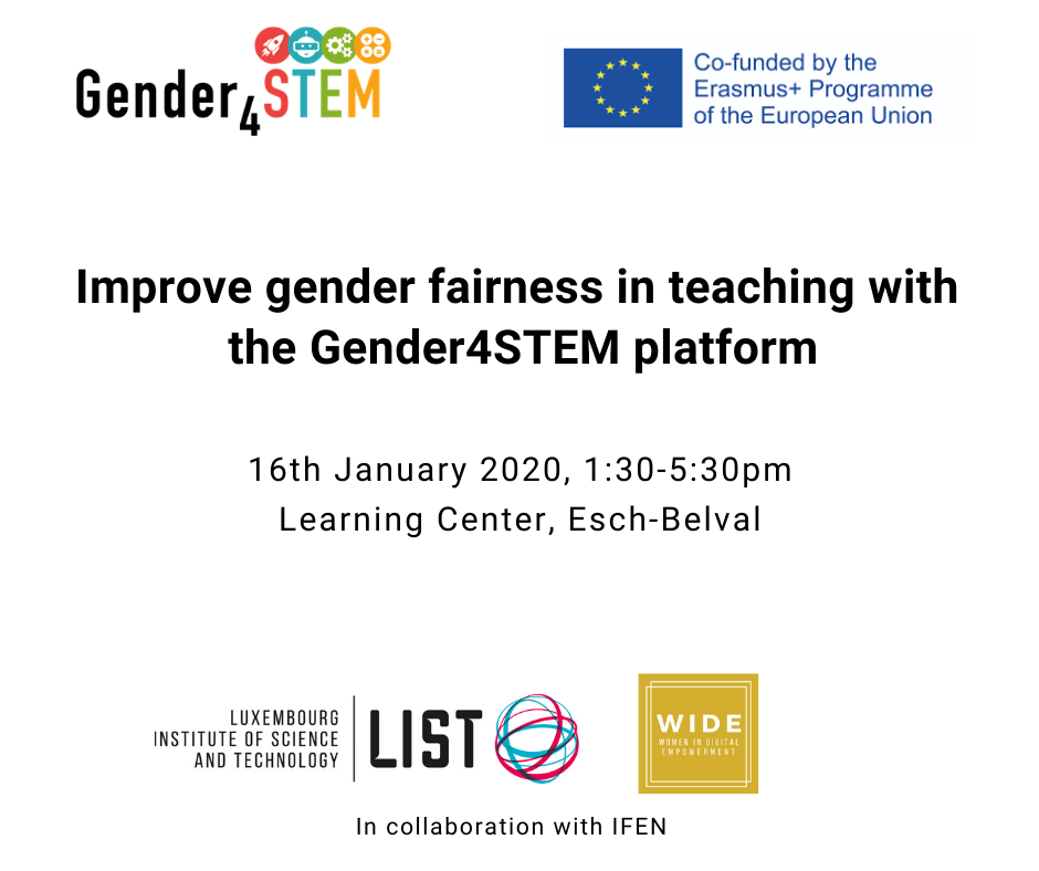 gender4stem event of the 16 january 2020